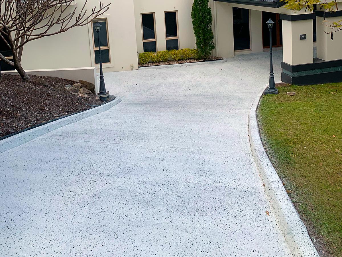 concrete driveway coloured sealer coating gold coast