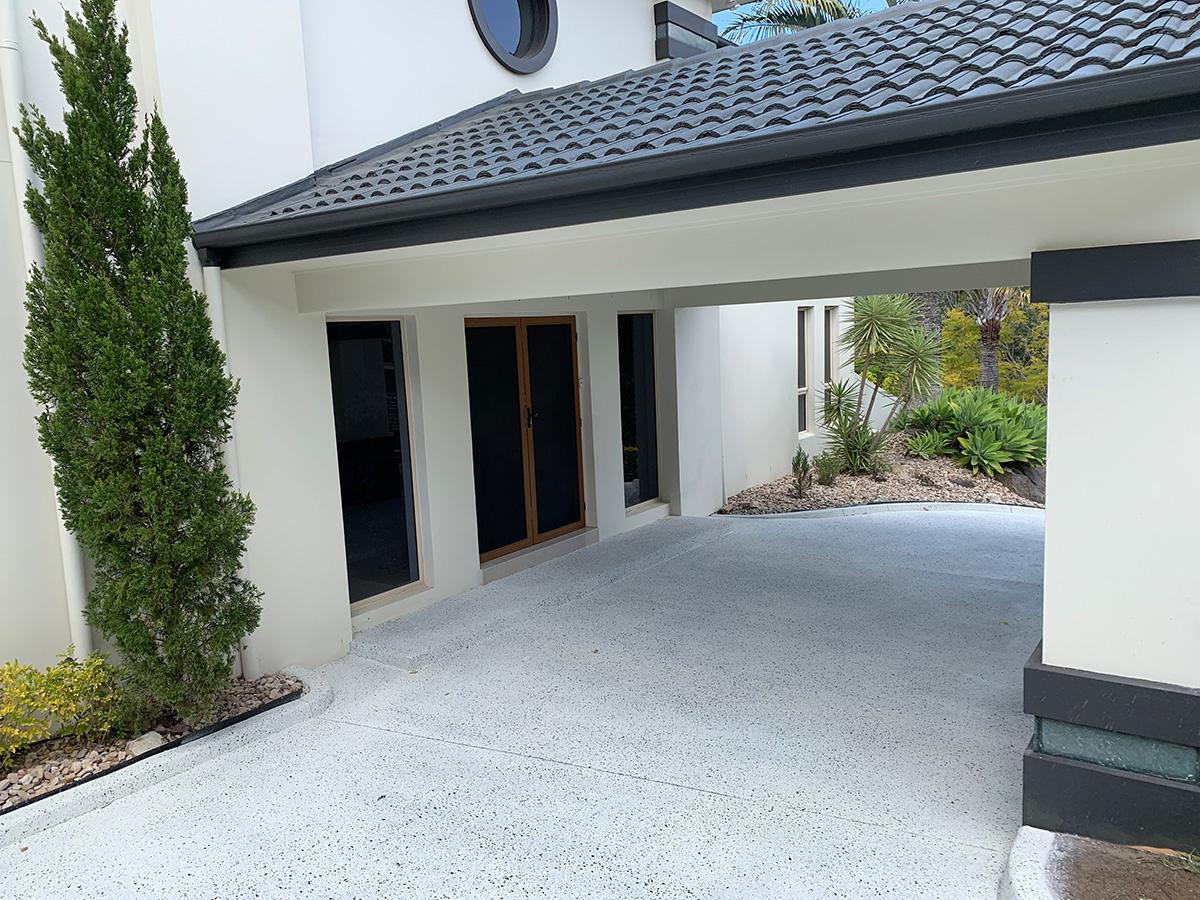 front entrance concrete colour coating decorative gold coast