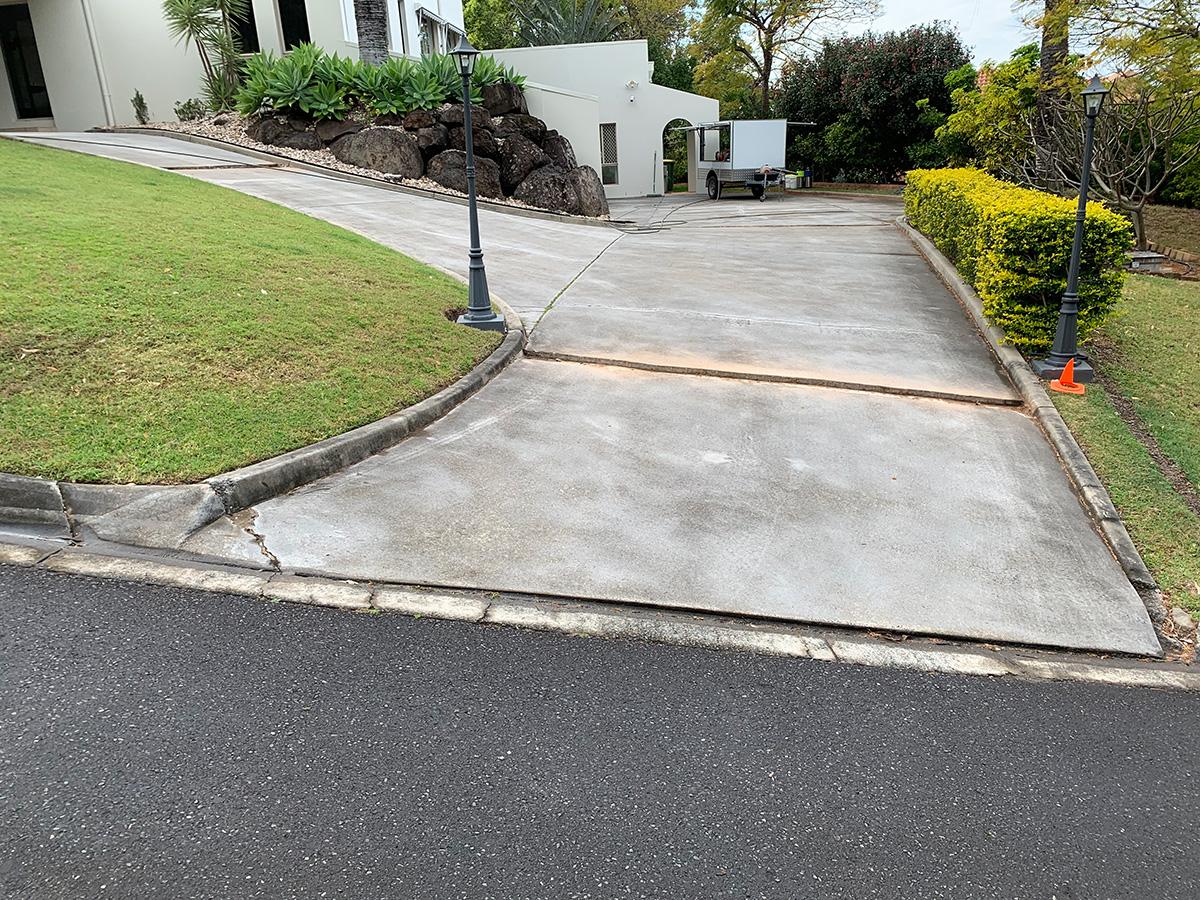 large concrete driveway resurfacing prep gold coast