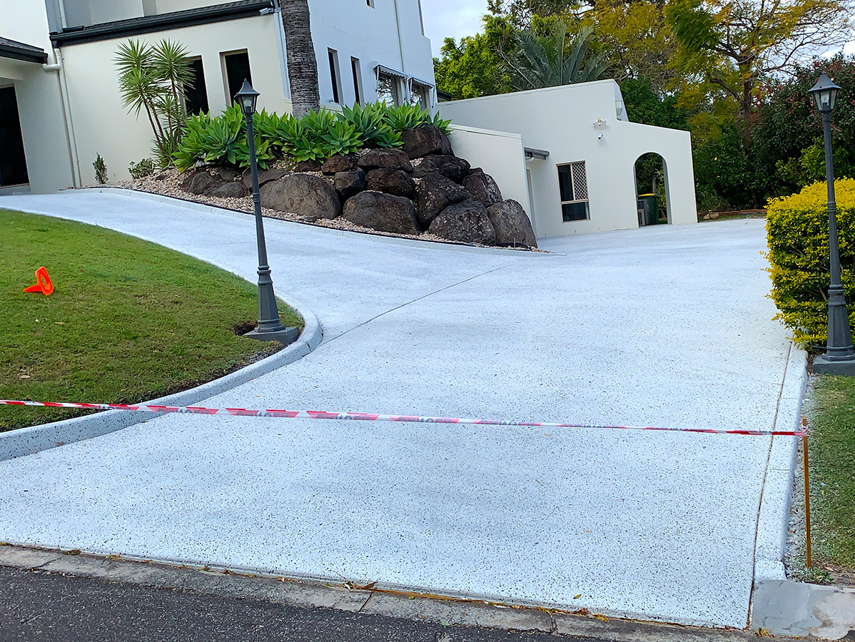 polymer concrete driveway coating coloured gold coast